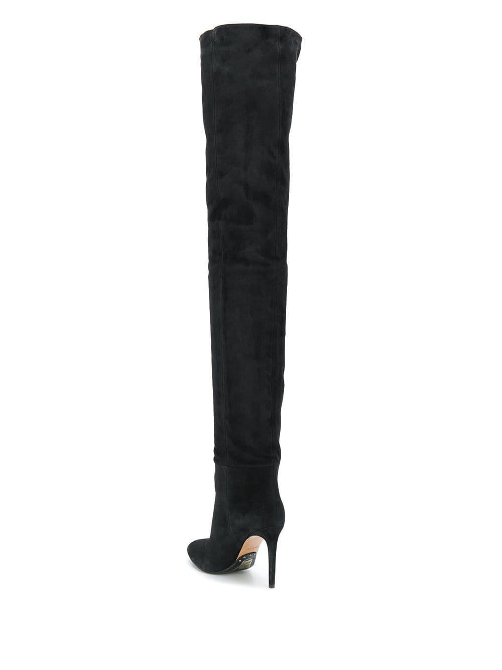 Botas Janet Balmain de Ante de color Negro