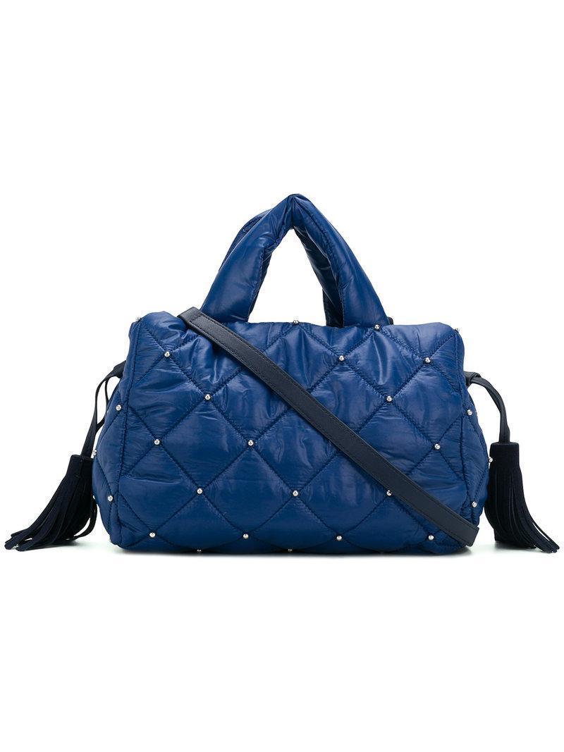 519968d986 Lyst - Sonia Rykiel Quilted Tassel Tote in Blue