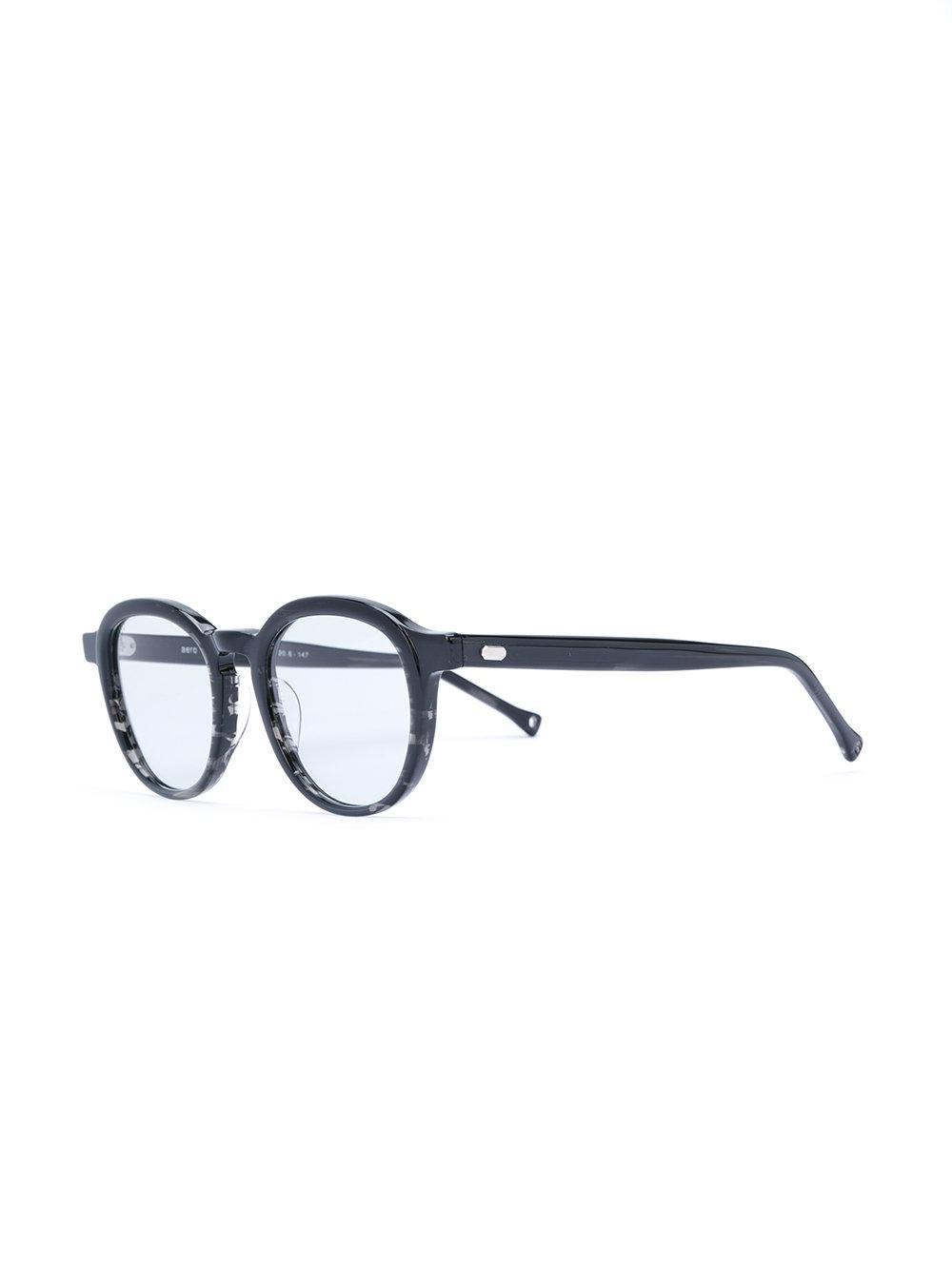 OAMC Round Frame Sunglasses in Black for Men