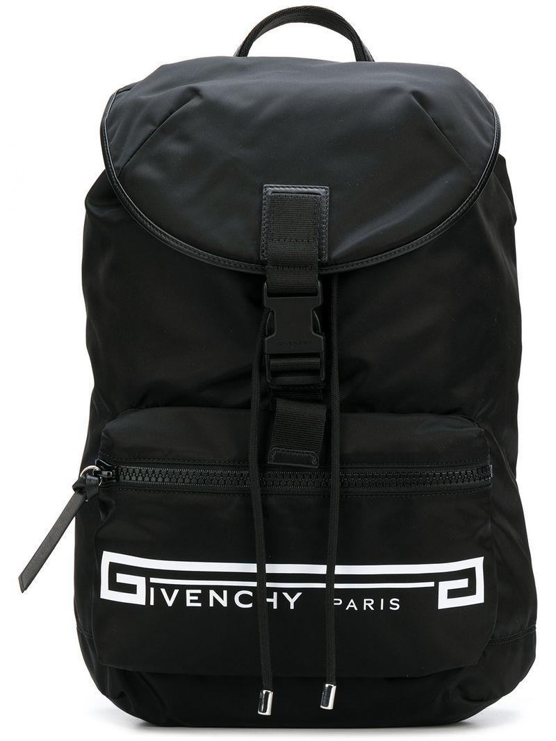 865ee34f2058 Givenchy Retro Logo Flames Backpack in Black for Men - Save 26% - Lyst