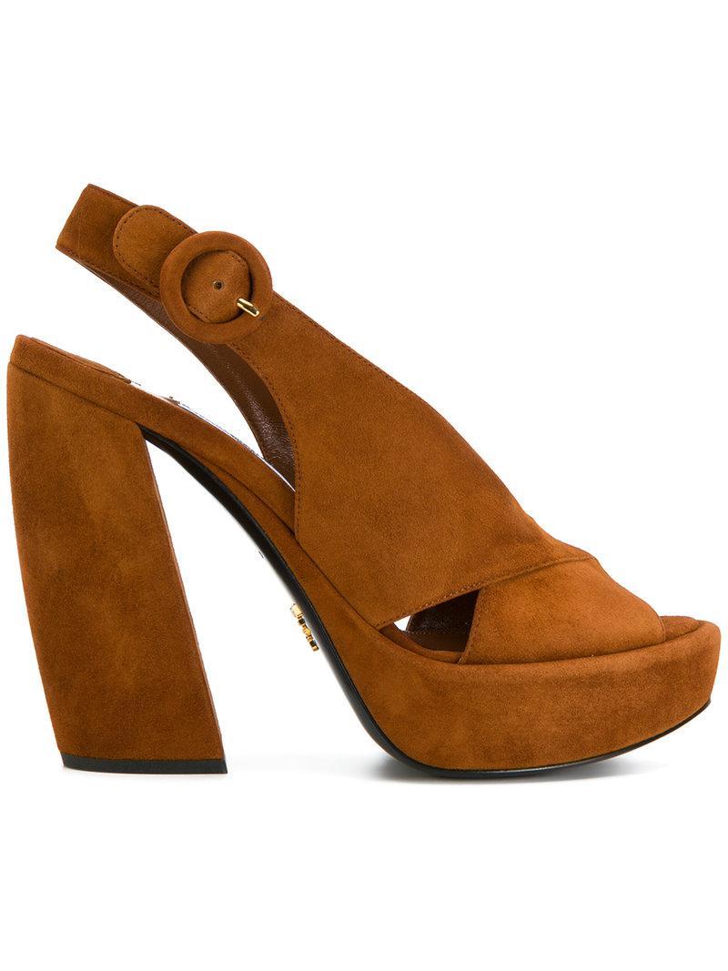 crossover sandals - Brown Prada gRQGkfdt