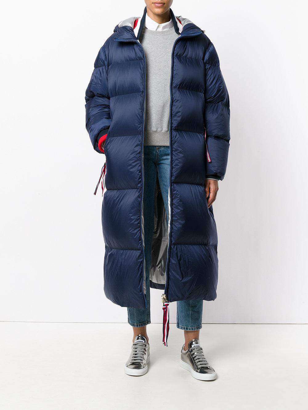 d17840fbe02a0a Tommy Hilfiger Icon Oversized Down Coat in Blue - Lyst