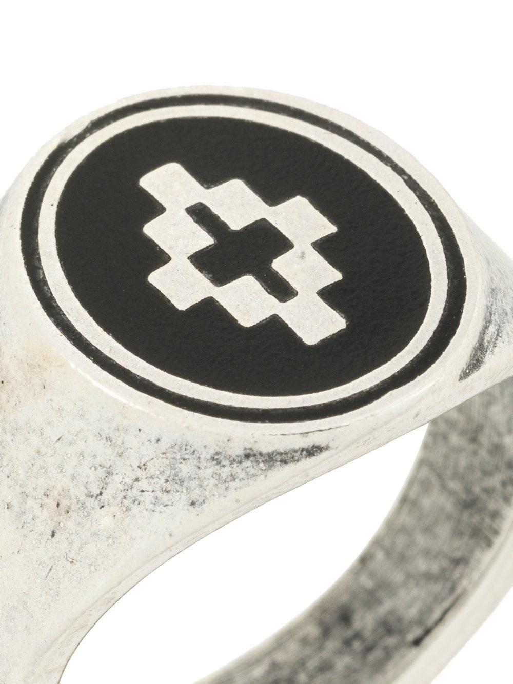 Cross ring - Metallic Marcelo Burlon Ektec