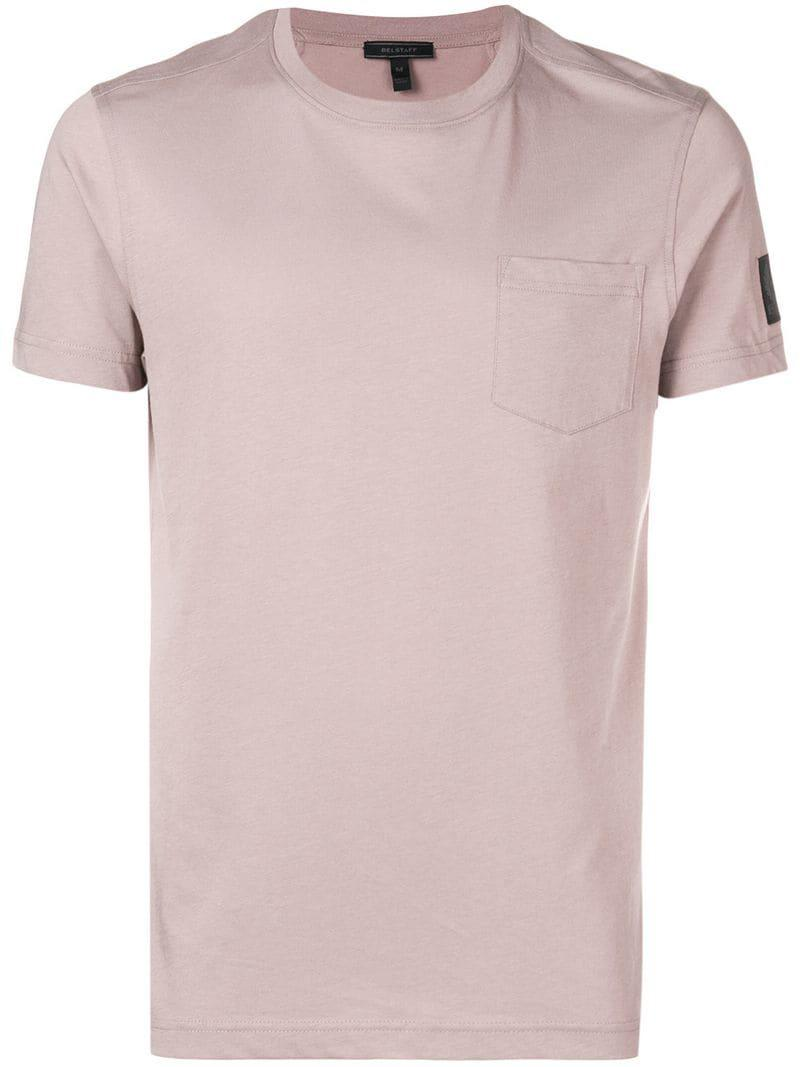 a9ab3dd1d7f3 Belstaff Chest Pocket T-shirt in Pink for Men - Lyst