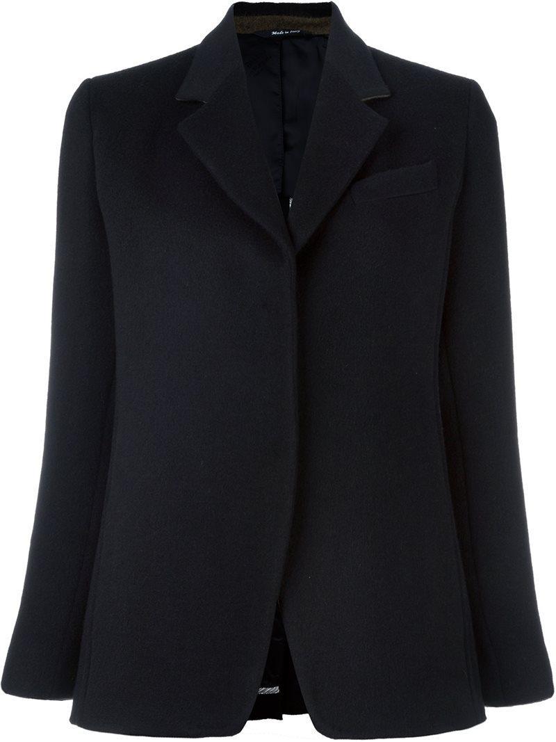 Maison Margiela Exposed Seam Blazer Jacket In Black Lyst