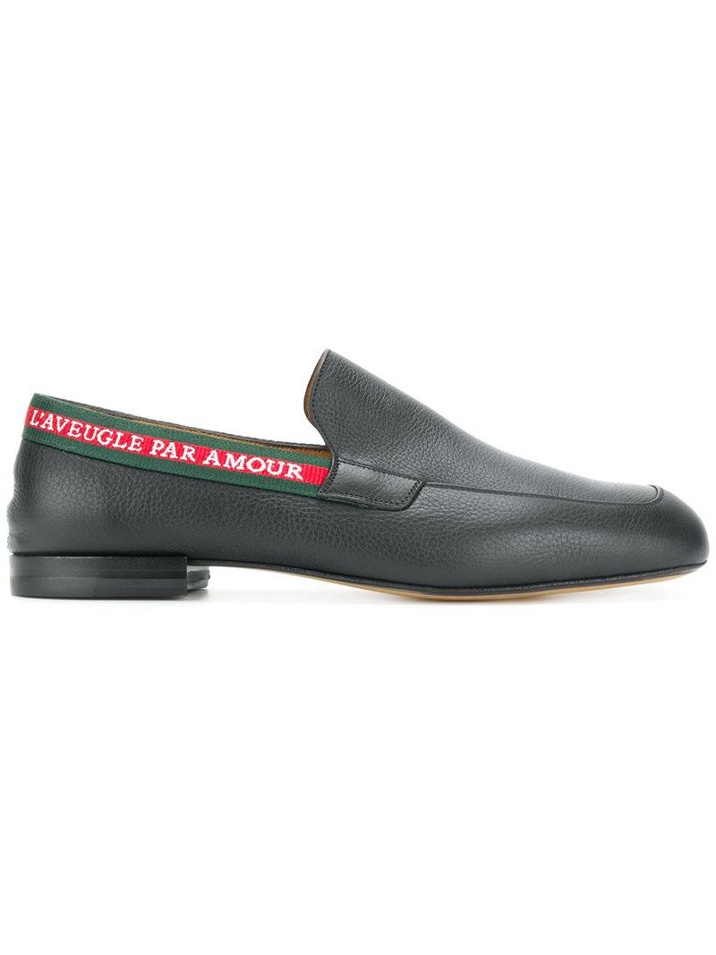 c38c0a88c39 Lyst - Gucci L aveugle Par Amour Loafers in Black for Men - Save 62%