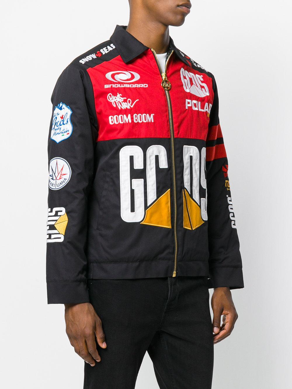 Gcds Cotton Zipped-up Motor Jacket in Black for Men - Lyst