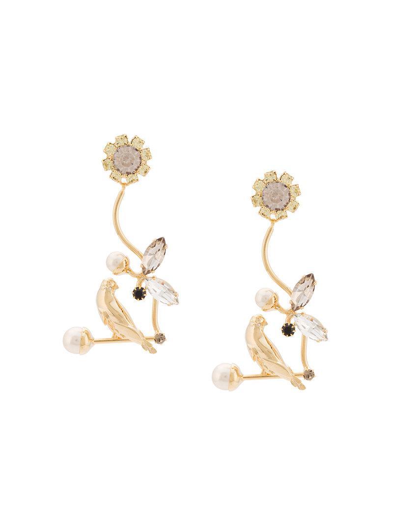 Erdem Floral Filigree earrings - Pink & Purple nYsmJDH