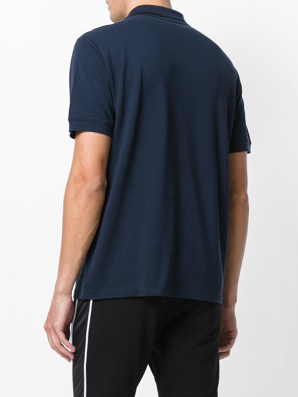 Versace Cotton Medusa Badge Crew Neck Short Sleeve T-shirt in Blue for Men