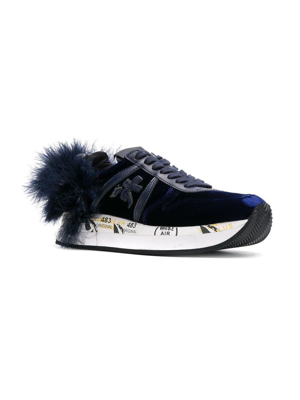 Zapatillas Holly Premiata de Cuero de color Azul