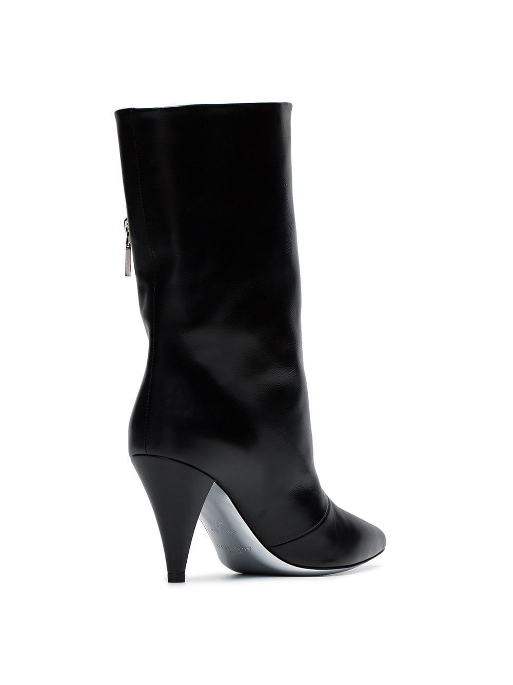 b9a858687f1 Givenchy Black Zip-detail 80 Leather Ankle Boots in Black - Save 60 ...