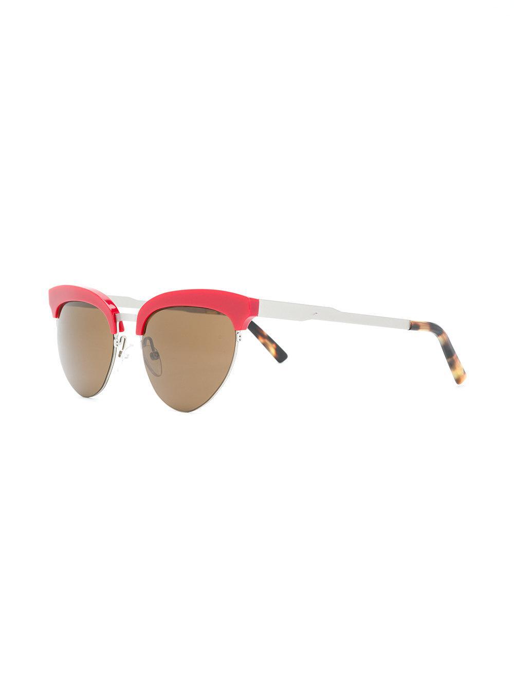Kyme Greta Sunglasses in Red