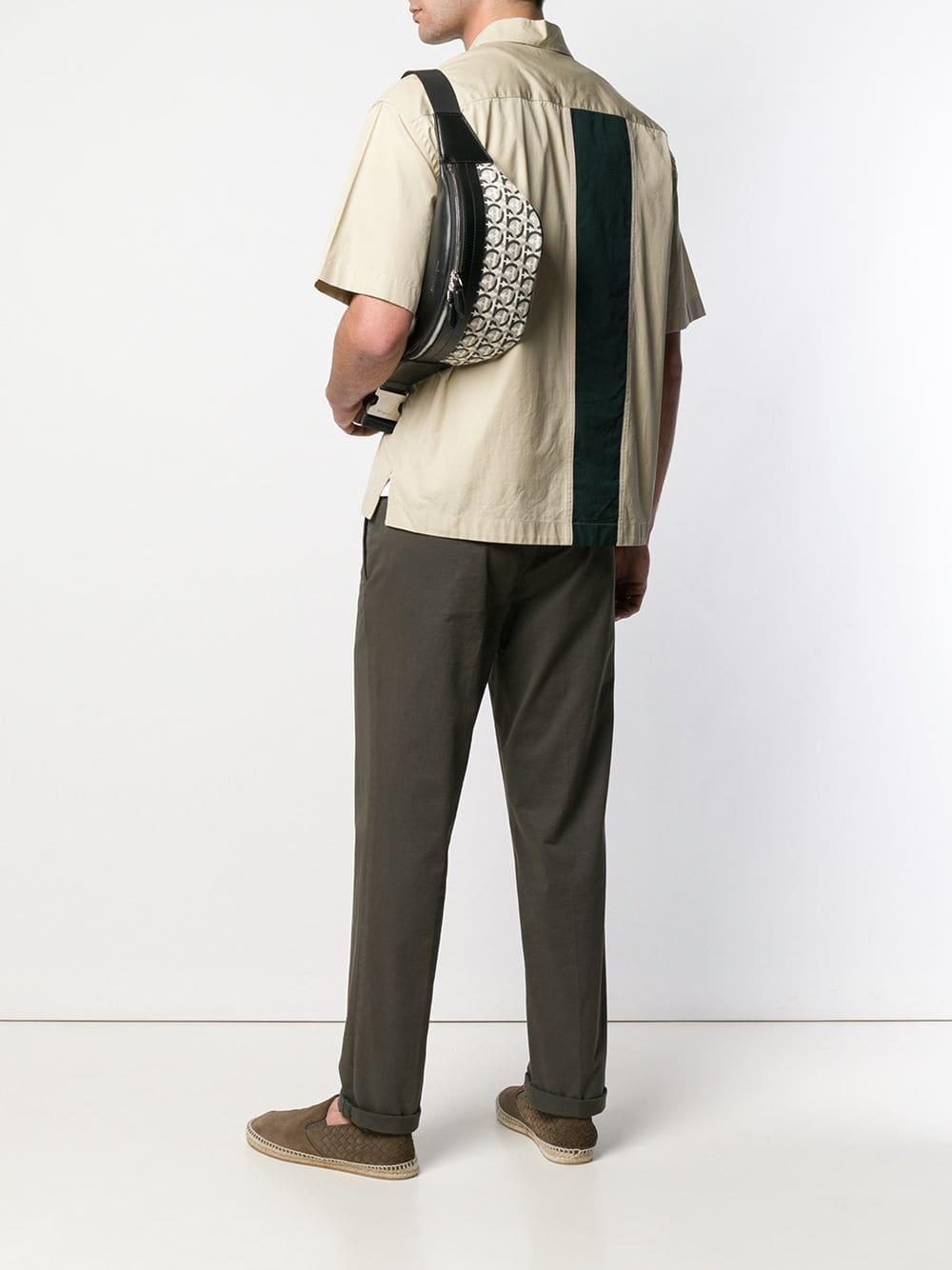 Ferragamo - Black Gancini Print Belt Bag for Men - Lyst. View fullscreen 4e24d8ea1bcb5