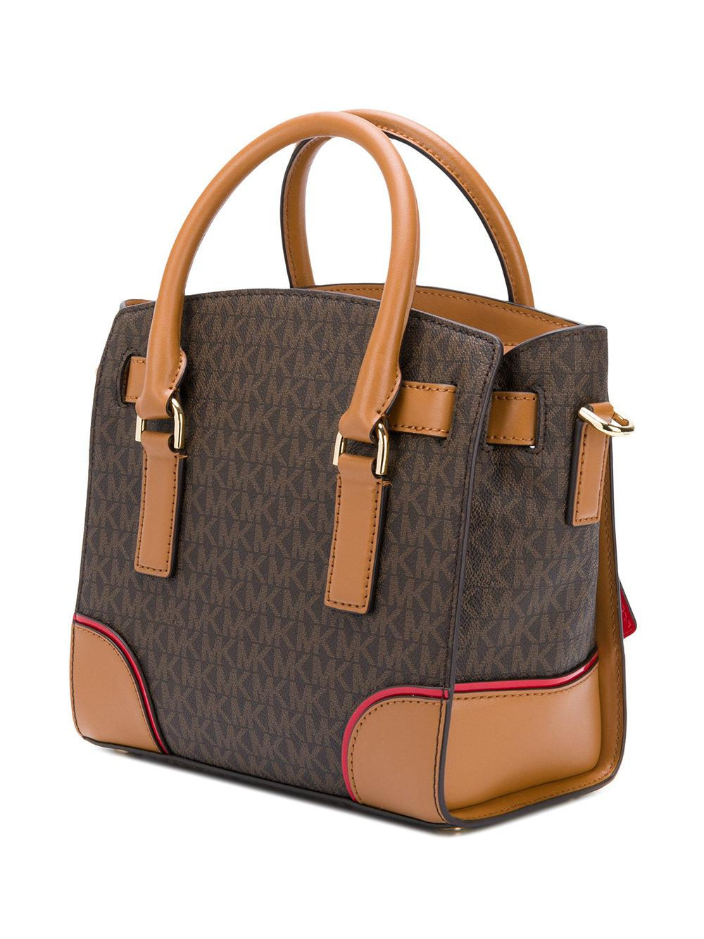 MICHAEL Michael Kors Hamilton Large Logo Tote in Brown