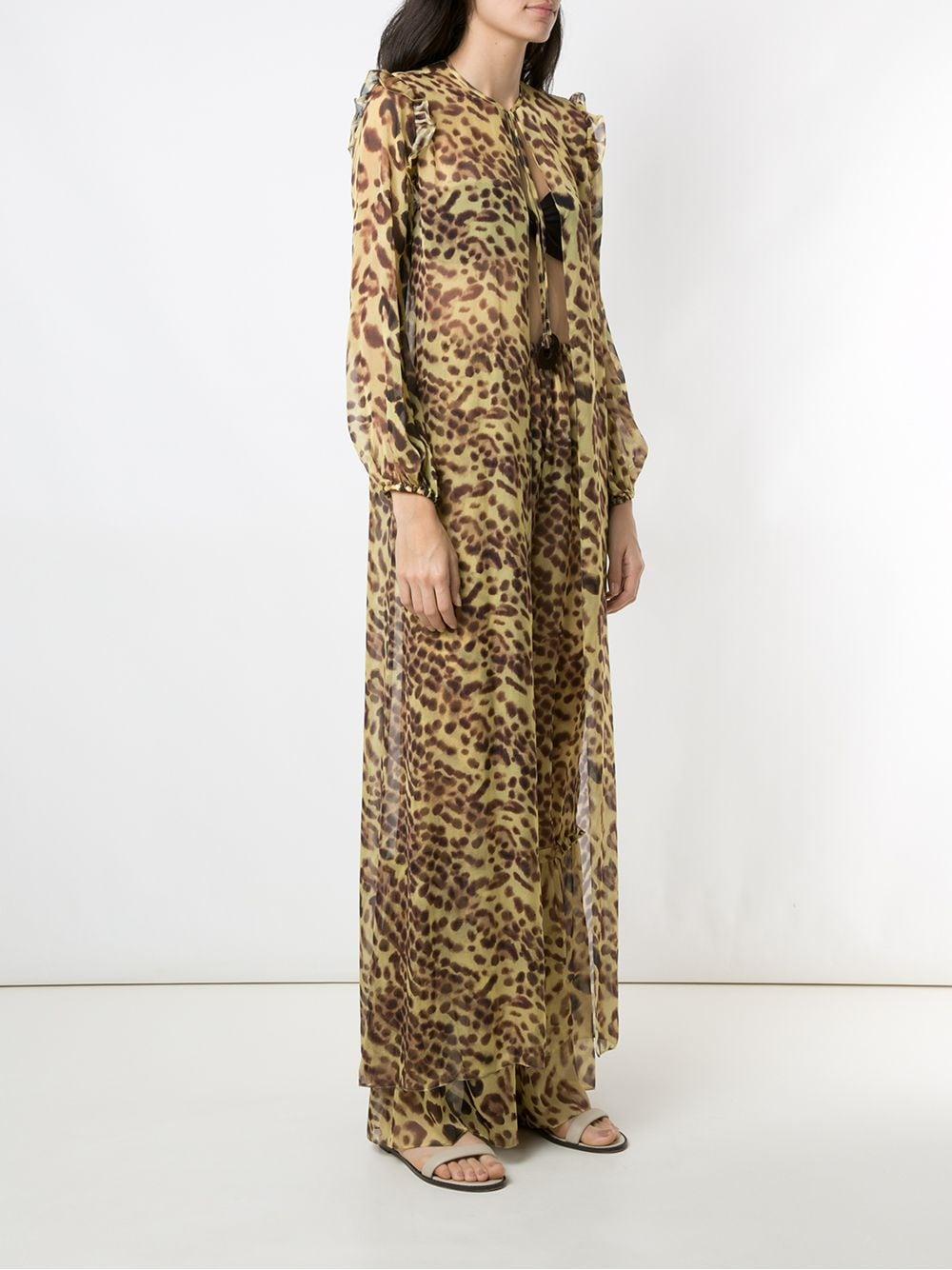 Conjunto de pantalones y túnica Adriana Degreas de color Amarillo