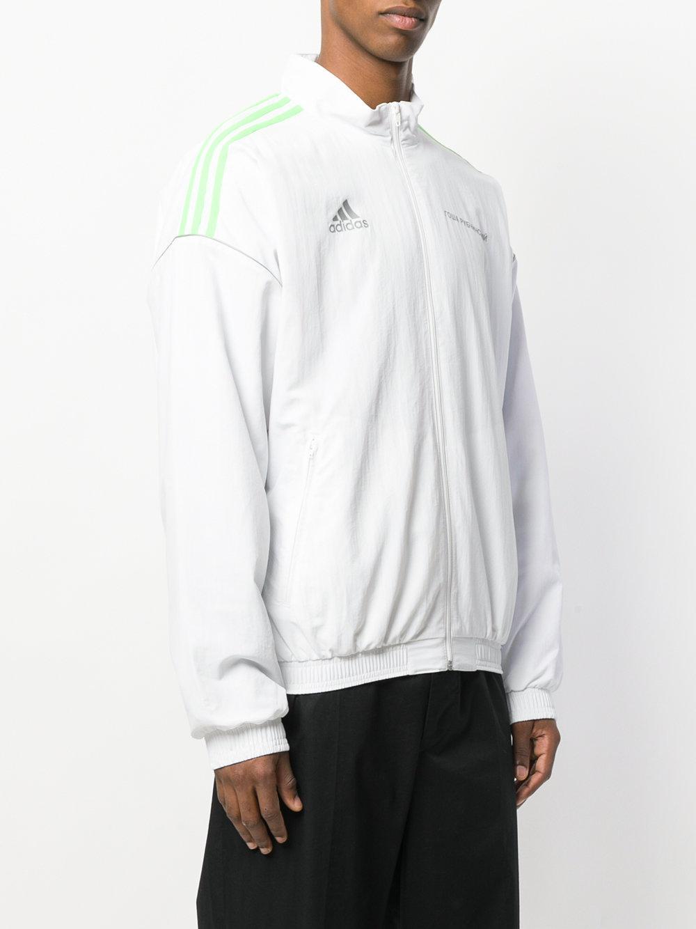 Gosha Rubchinskiy Synthetic Zip Front Track Jacket in White for Men