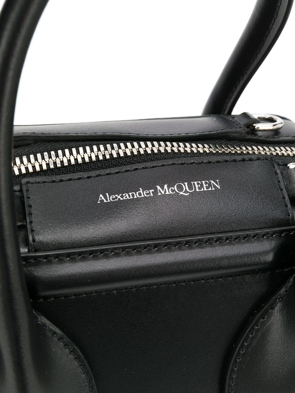 Alexander McQueen Leder 'Pinter' Handtasche in Schwarz IgE5w