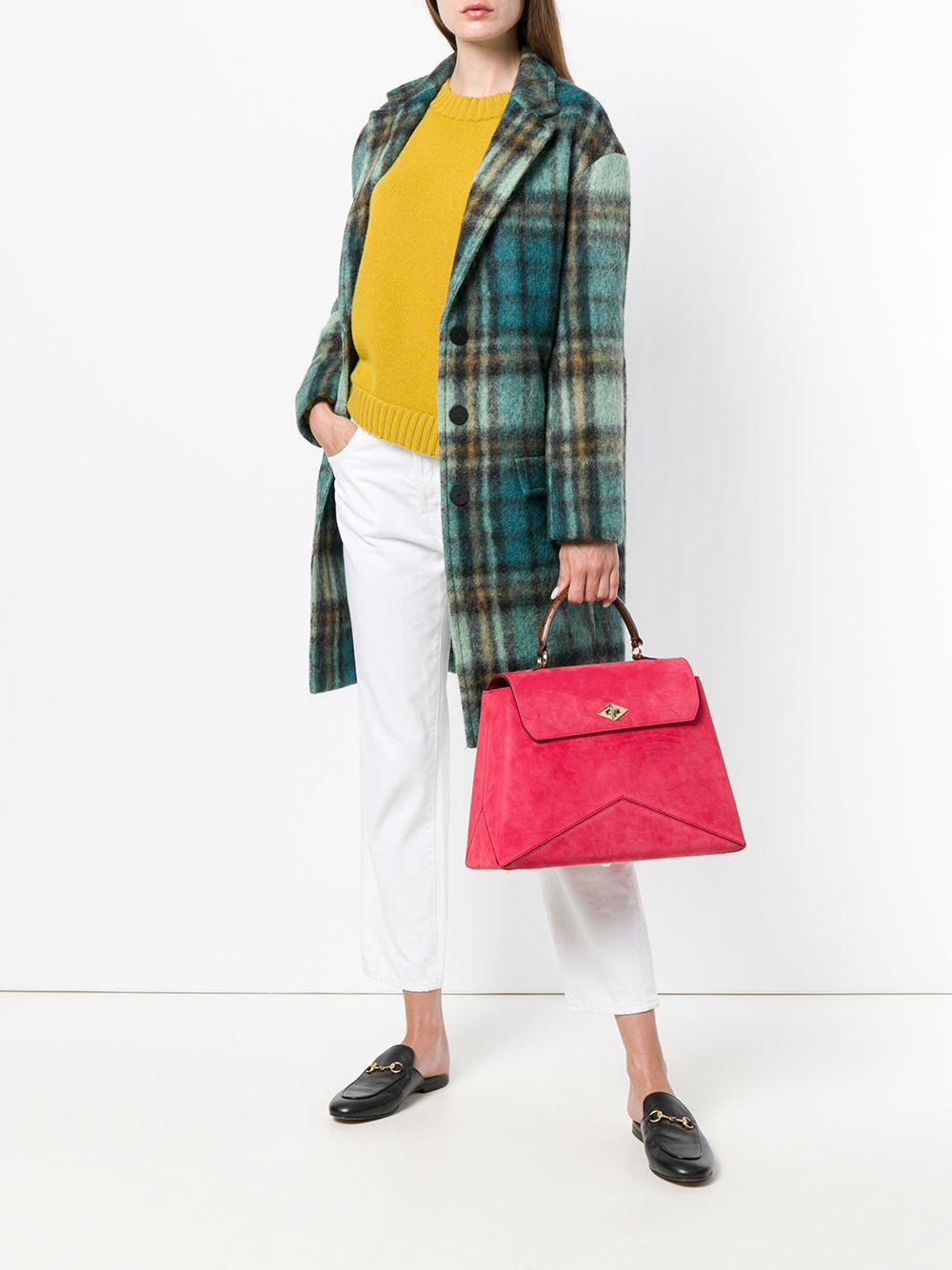 Ballantyne Leather Lex Tote in Red