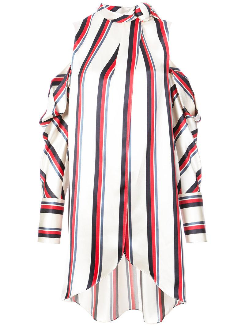 pussy bow striped shirt - White Monse Cheap Sale Store Manchester Lowest Price Discount Low Price lzo7iUHe