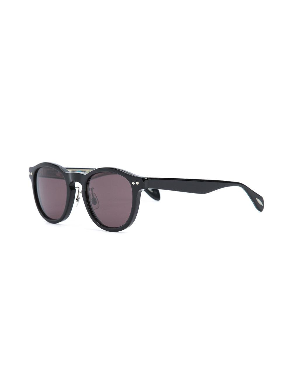 Oliver Peoples Round Shaped Sunglasses in Black
