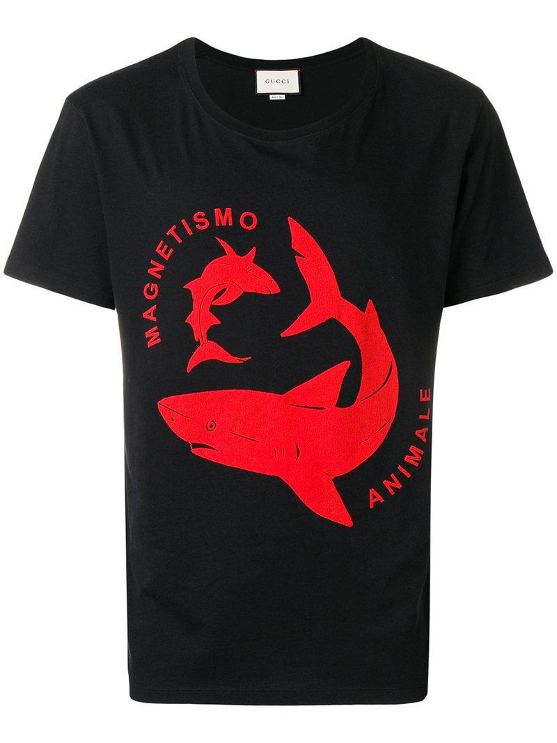 Lyst - Camiseta con estampado y cuello redondo Gucci de hombre de ... 56582ac0b3c