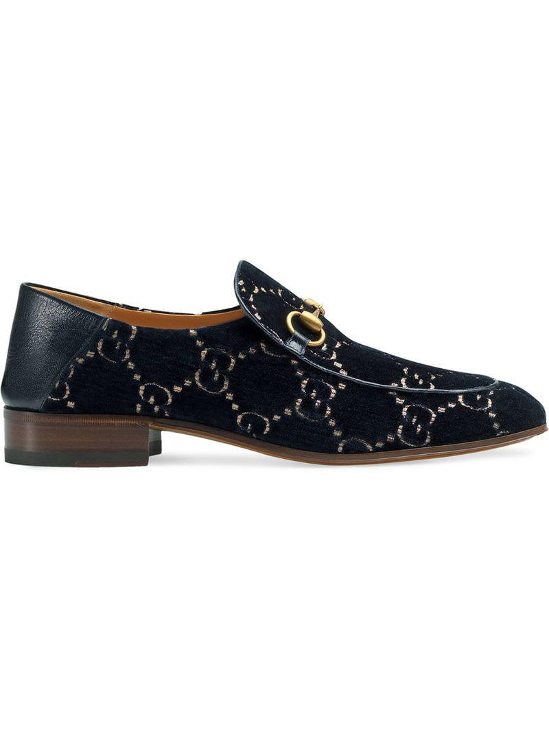f41ac0bda Gucci GG Horsebit Loafer in Blue for Men - Lyst