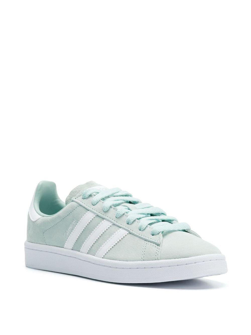 adidas Cotton Originals Campus Sneakers in Green