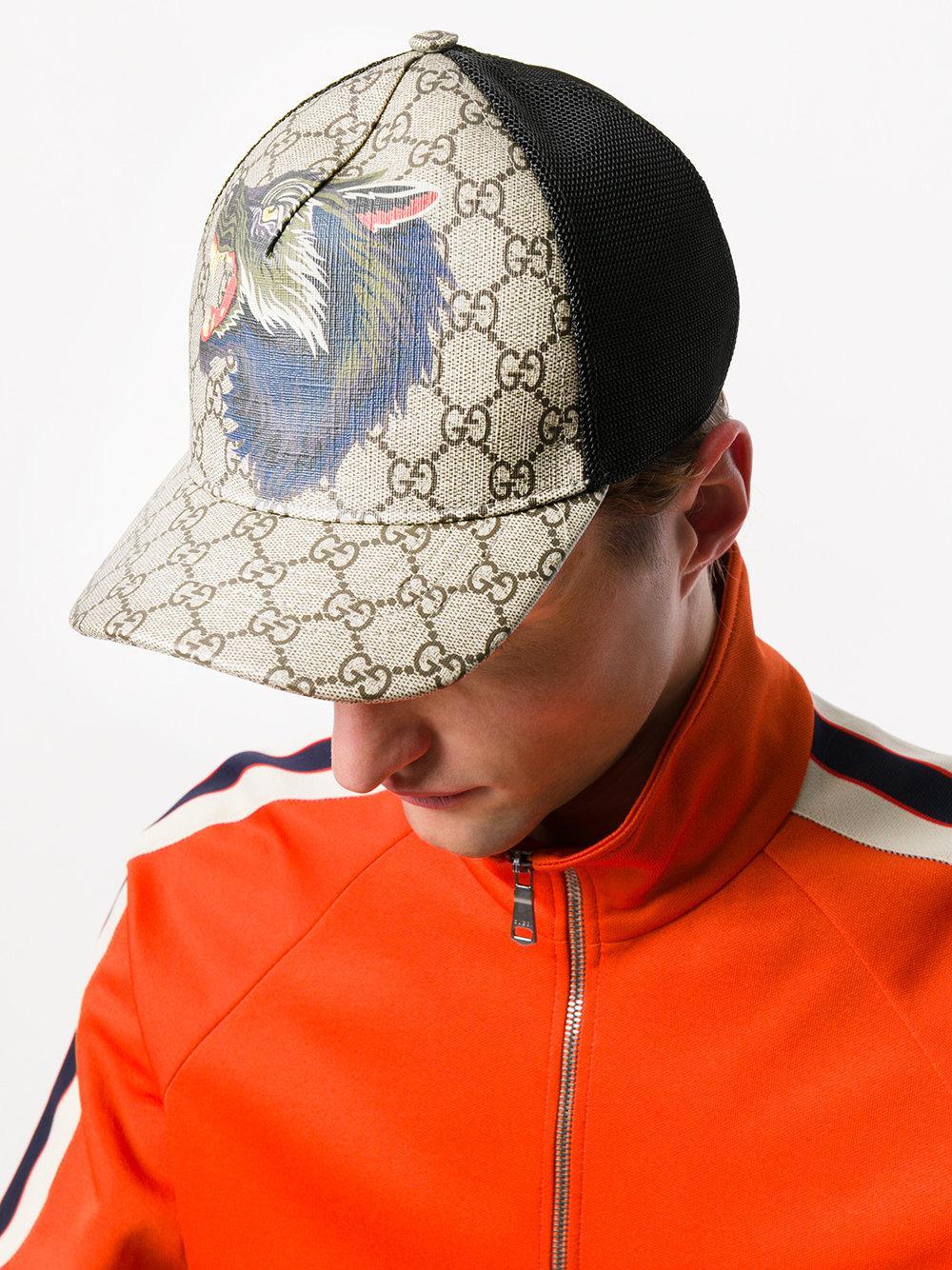 015e5fd677 Casquette Suprême GG Gucci pour homme en coloris Brown