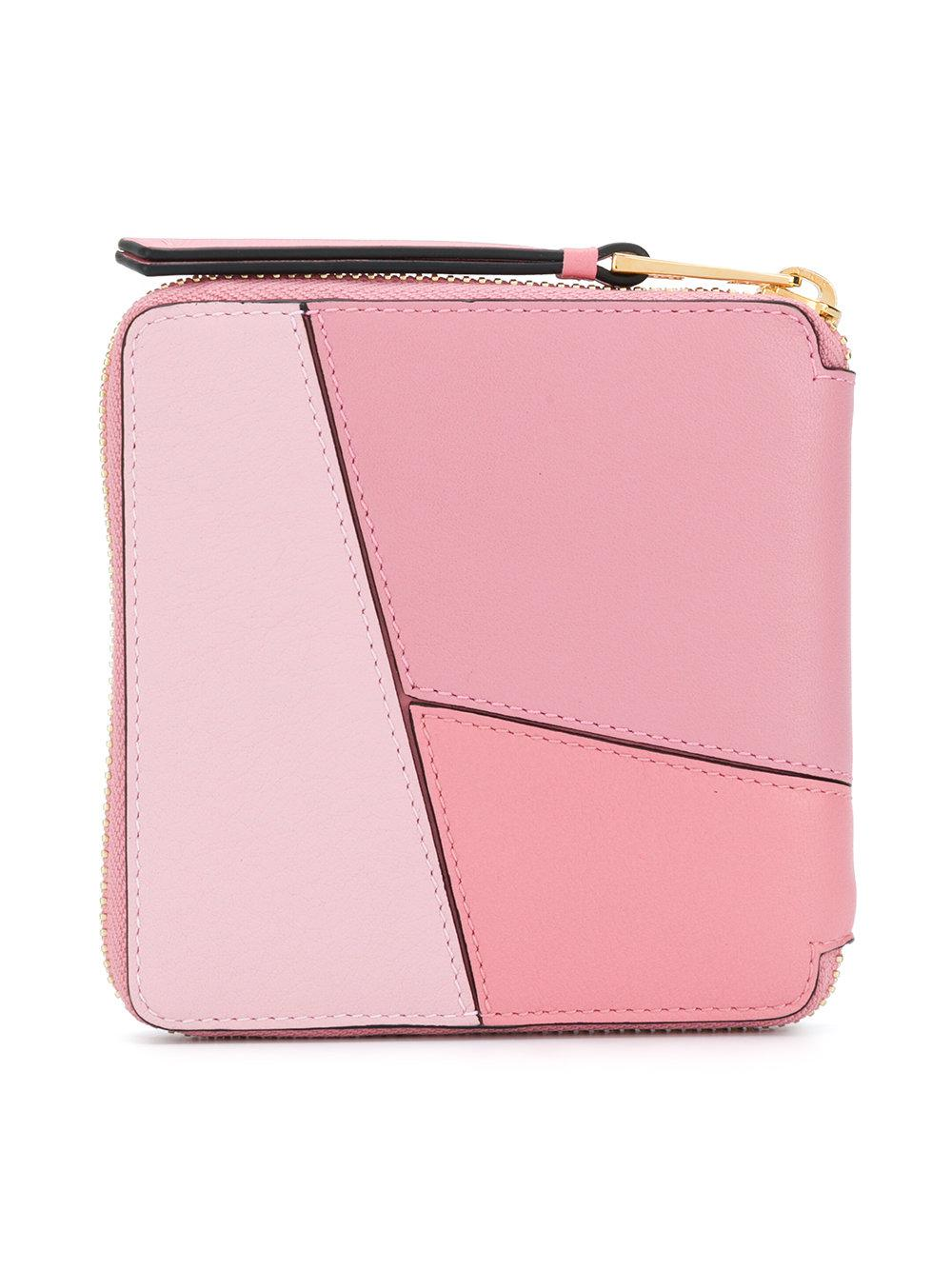 Loewe Puzzle Square Wallet In Pink Lyst