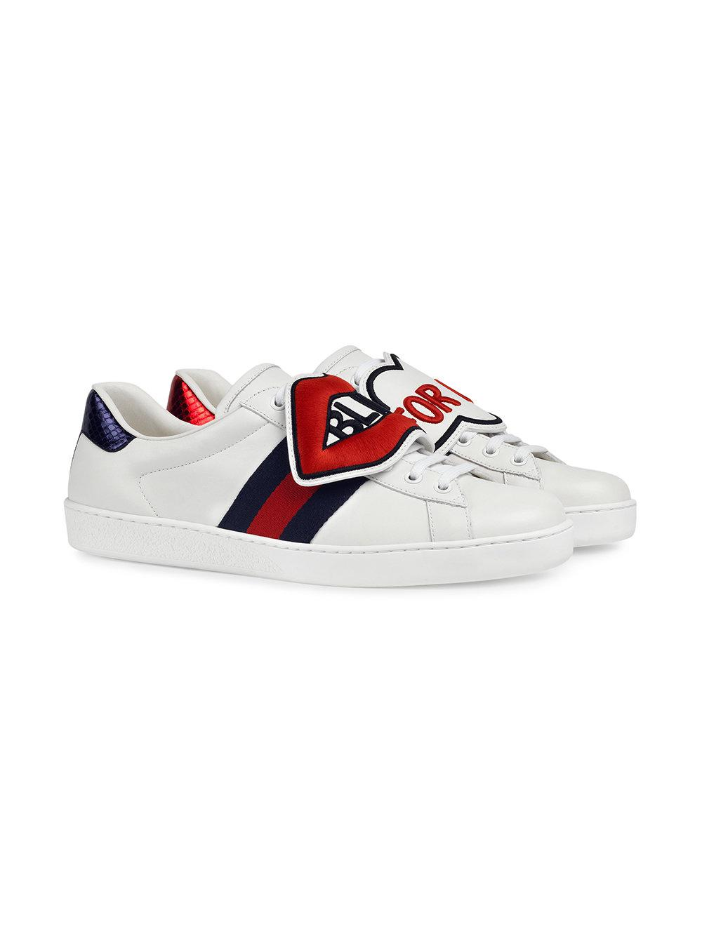 61b7a82d7c6 Lyst - Gucci Ace Sneaker With Removable Embroideries in White for Men