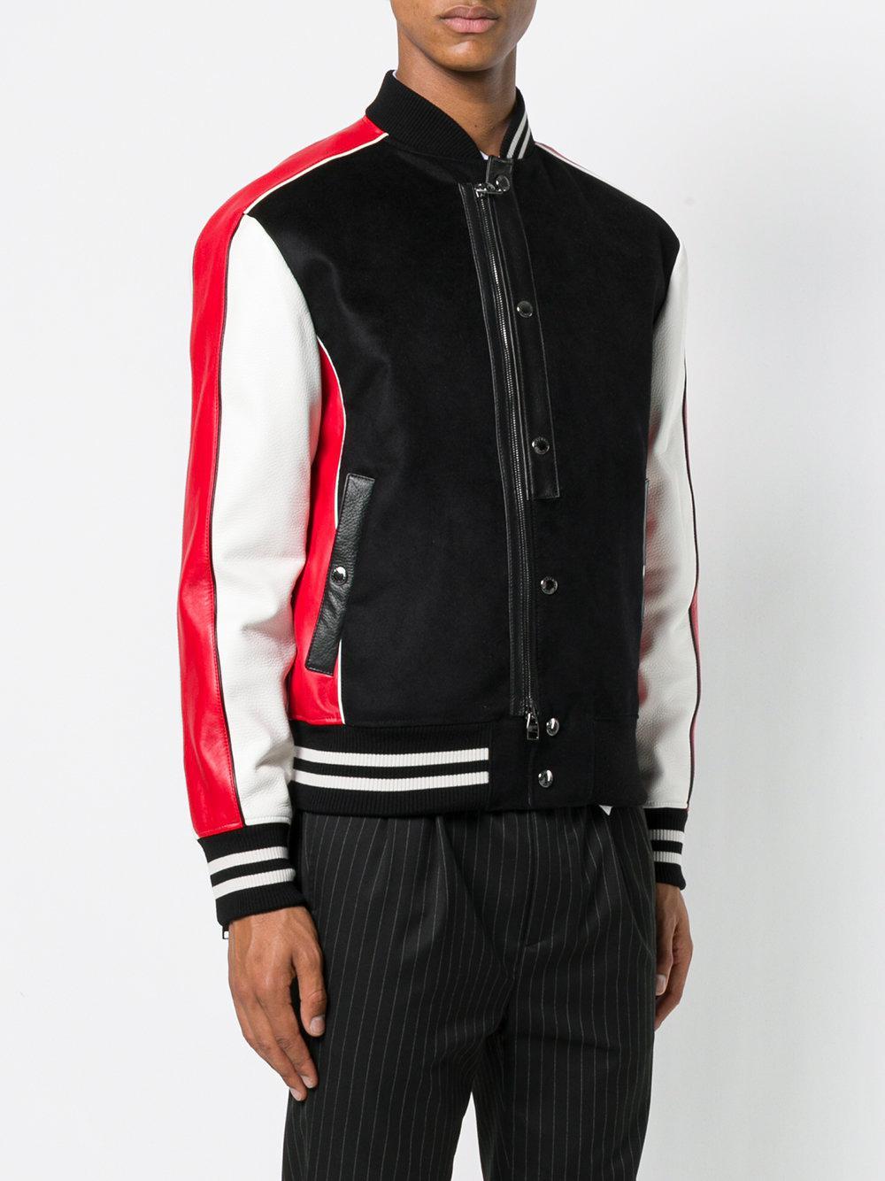 Alexander McQueen Wool Button-up Bomber Jacket in Black for Men