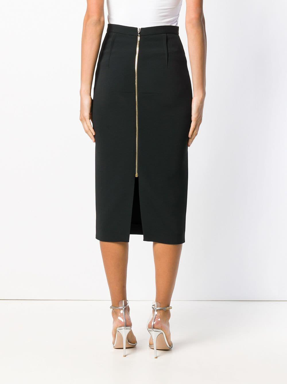Roland Mouret Synthetic Pencil Skirt in Black