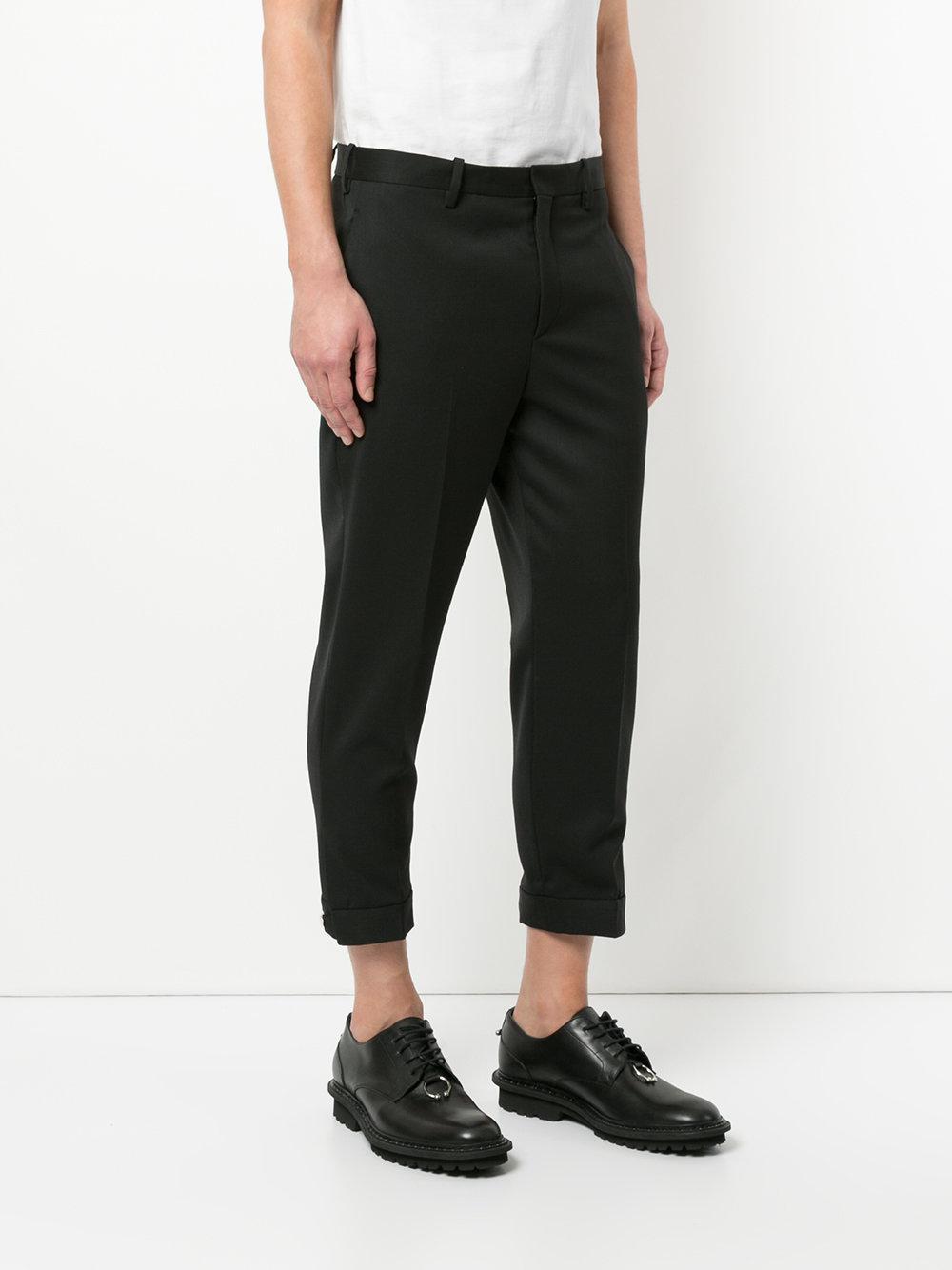 Neil Barrett Wool Suiting Trousers in Black for Men