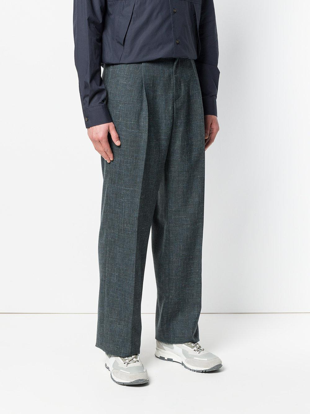 Stella McCartney Linen Tailored Trousers in Grey (Grey) for Men