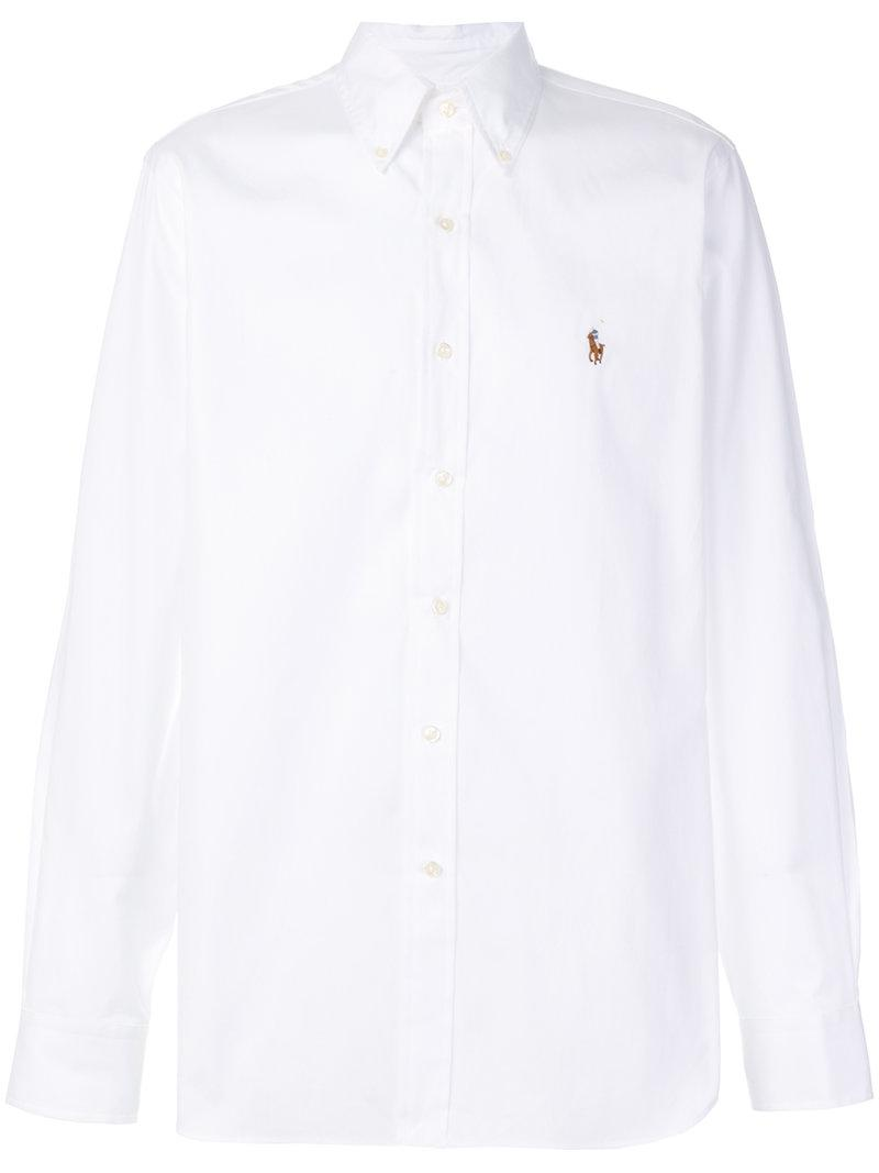 Lyst Polo Ralph Lauren Button Down Shirt In White For Men