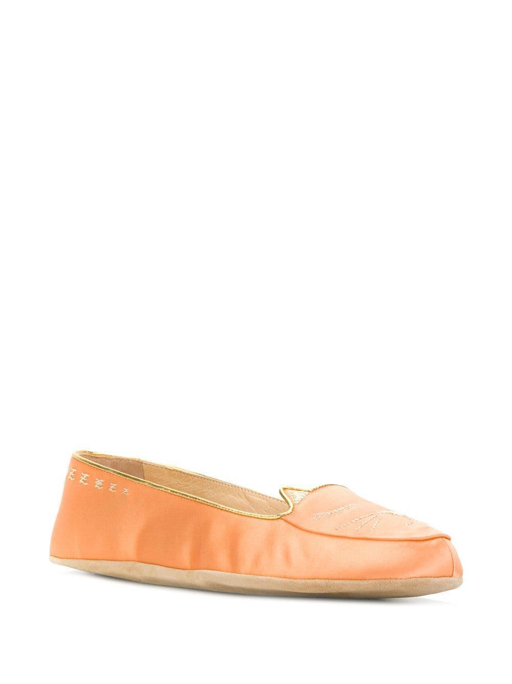 Zapatos slippers Cat Nap Charlotte Olympia de Cuero de color Amarillo