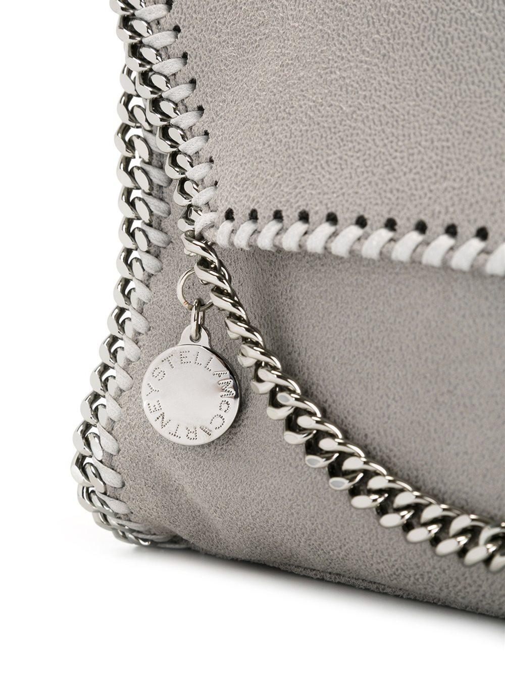 Stella McCartney Synthetic Foldover Falabella Shoulder Bag in Grey (Grey)