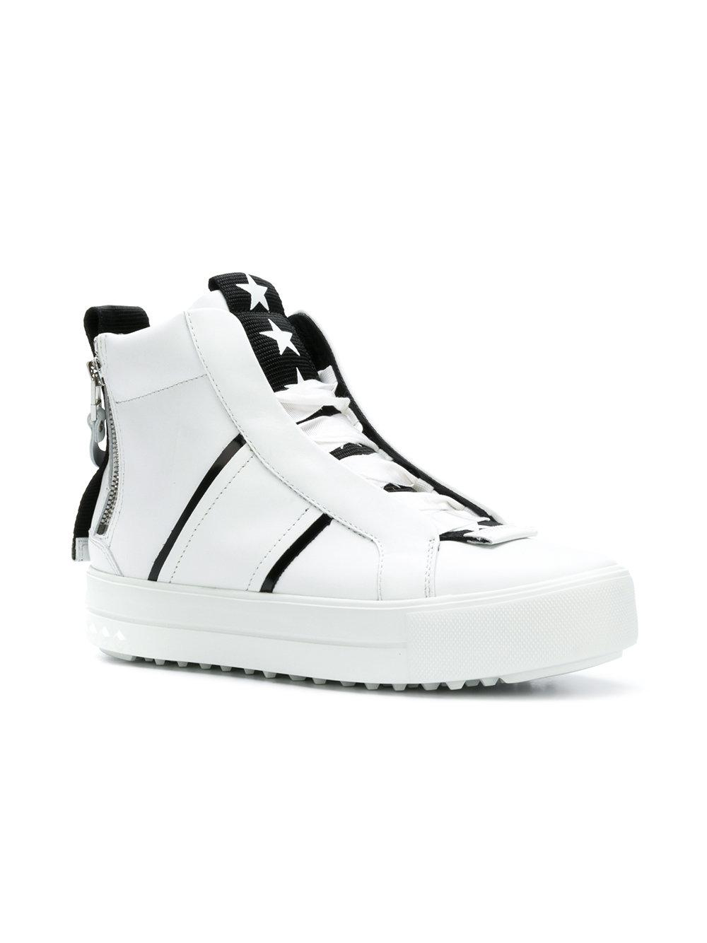 Kennel & Schmenger Leather High-top Sneakers in White