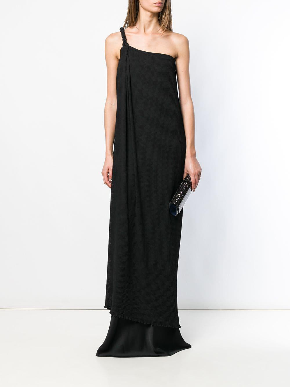 0e584712cdb1 Lyst - Max Mara Asymmetric Dress in Black