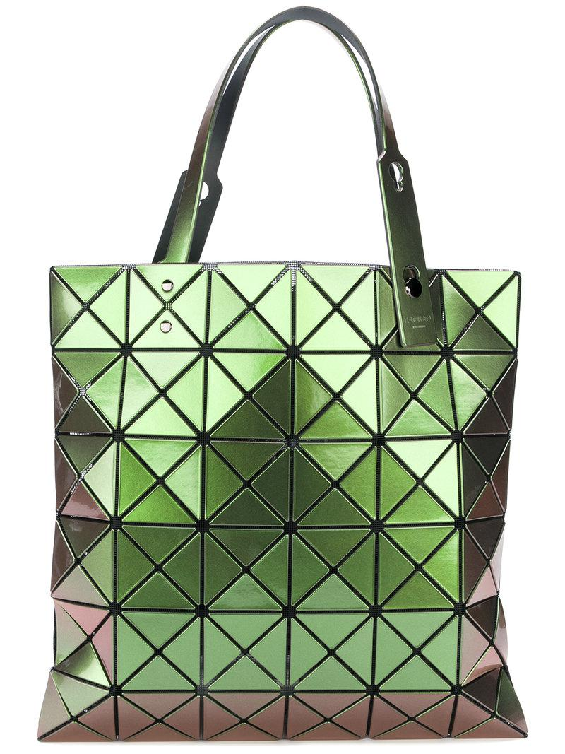 a2b43c771b Lyst - Bao Bao Issey Miyake Lucent Gloss Tote Bag in Green