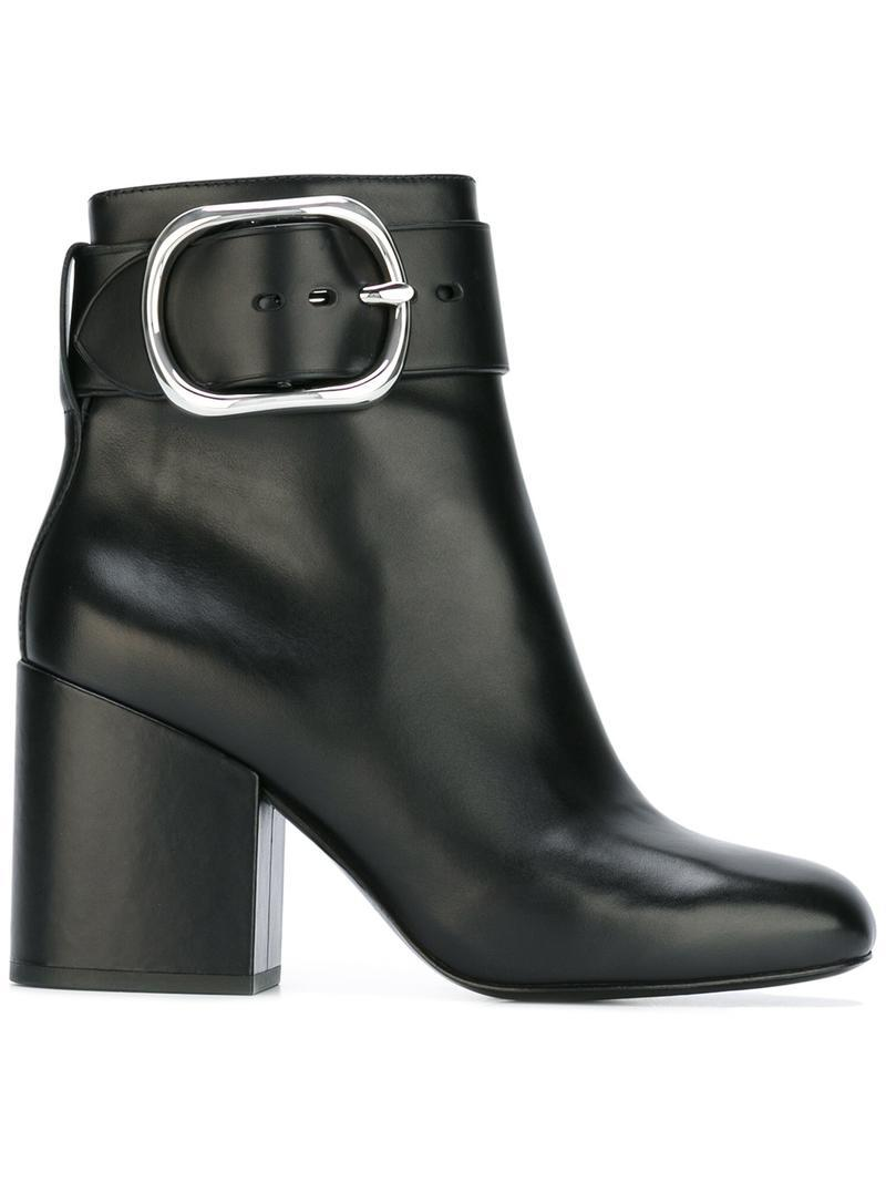 Alexander Wang Leather Kenze Ankle Boots in Black