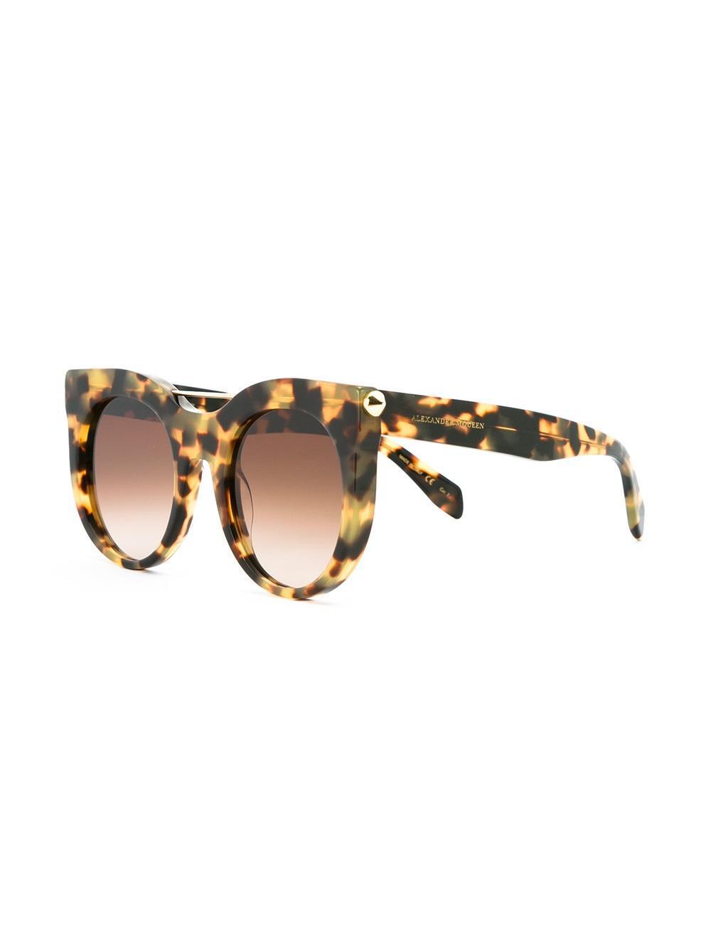 piercing bar round frame sunglasses - Nude & Neutrals Alexander McQueen Eyewear SkaSTj