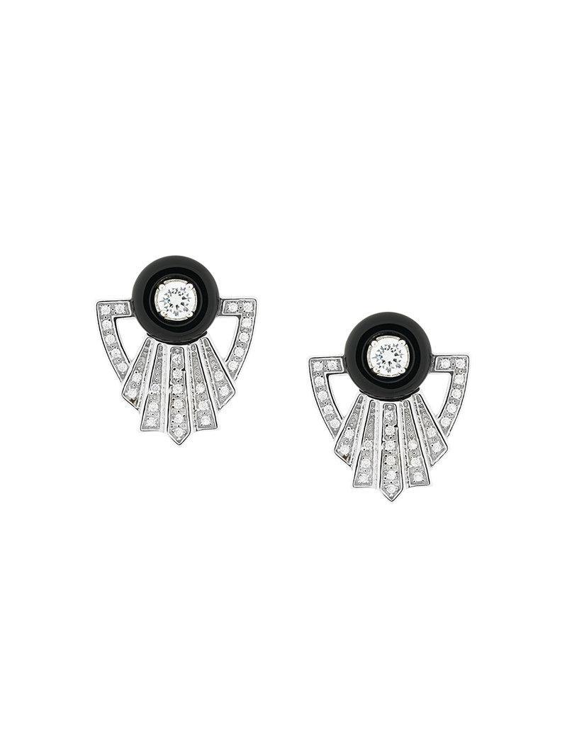 V JEWELLERY Garance earrings - Metallic oXuUkdDSNH