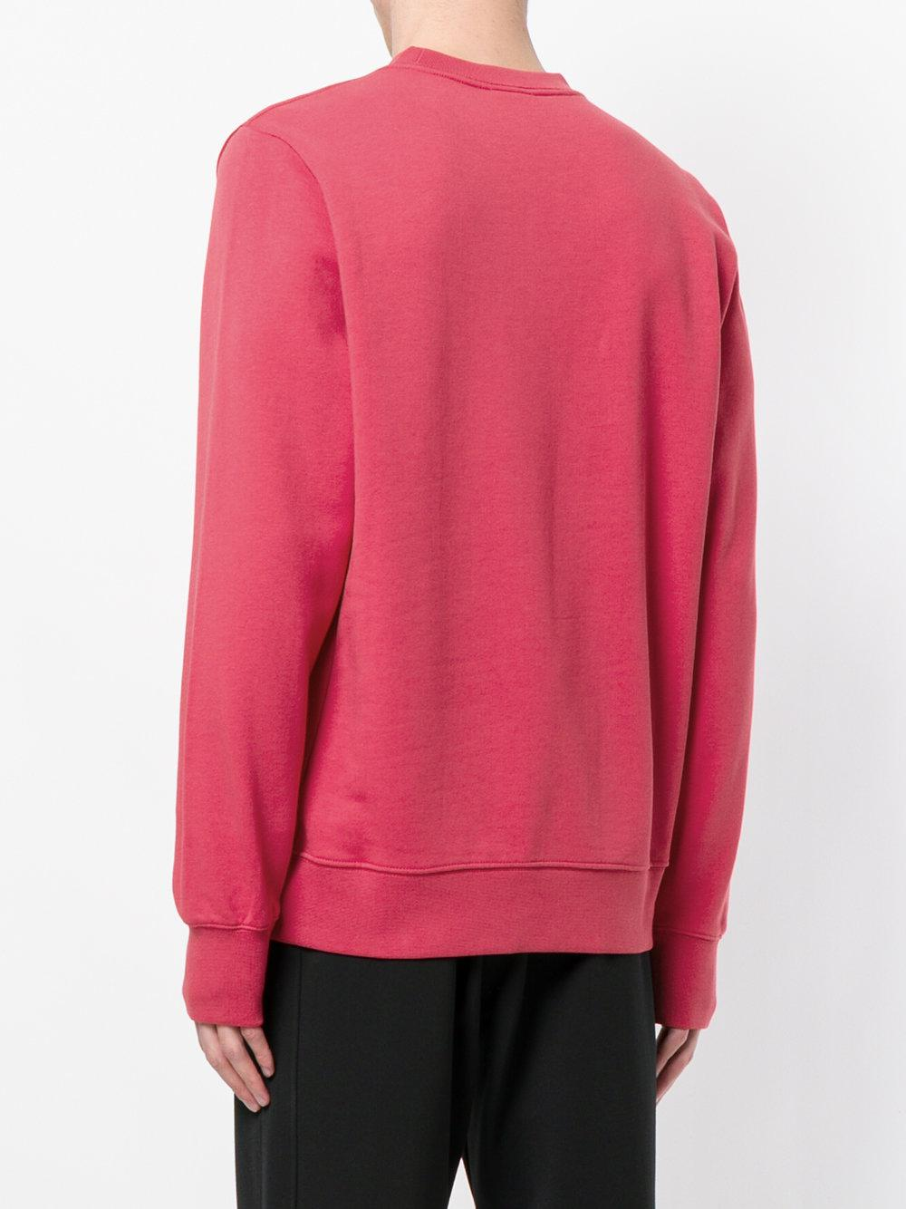 PS by Paul Smith Cotton Embroidered Dino Sweatshirt in Pink & Purple (Pink) for Men