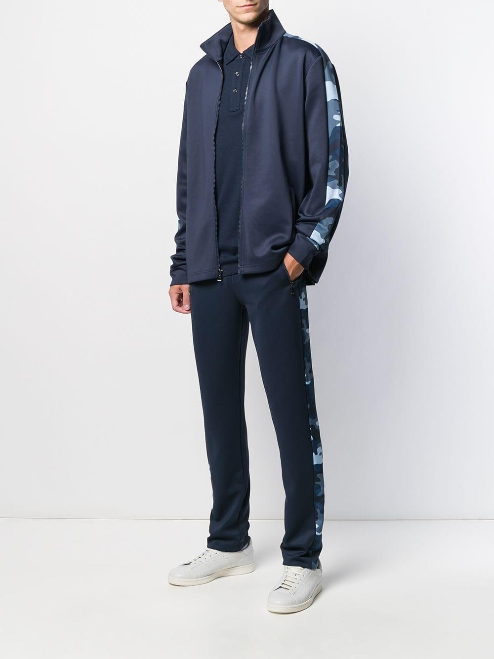 Michael Kors Katoen Sportjack Met Print in het Blauw voor heren