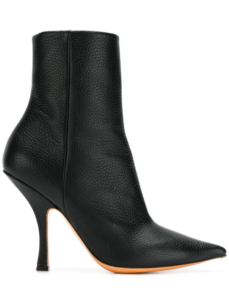 Y / PROJECT Pointed ankle boots