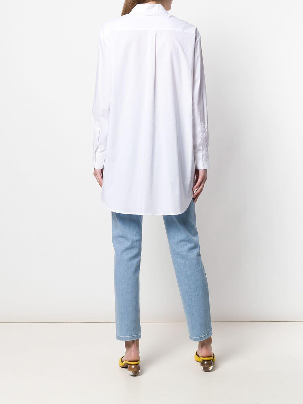 Chemise Giarrev Coton Vivetta en coloris Blanc
