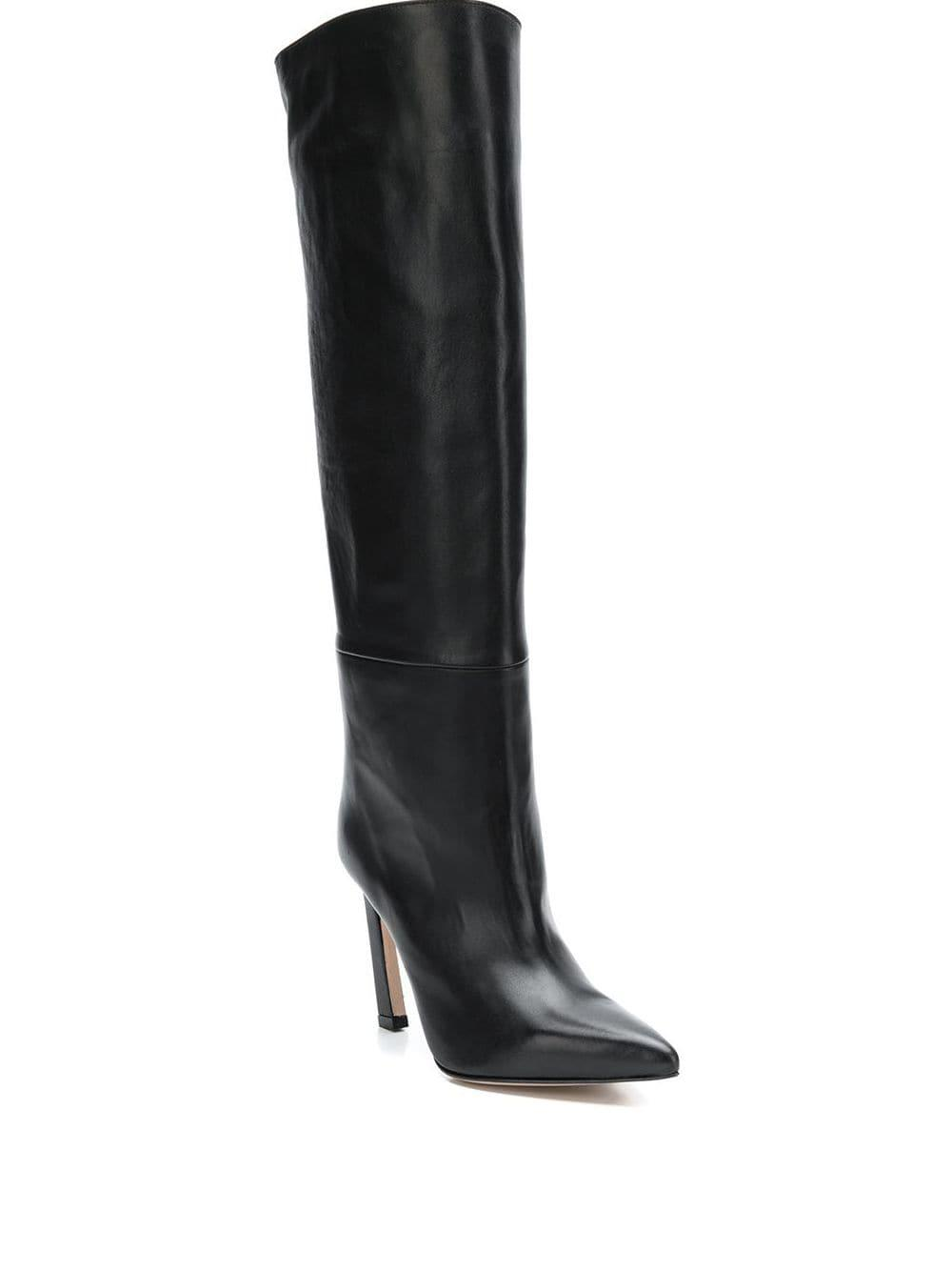 Stuart Weitzman Leather Aces Knee-length Boots in Black