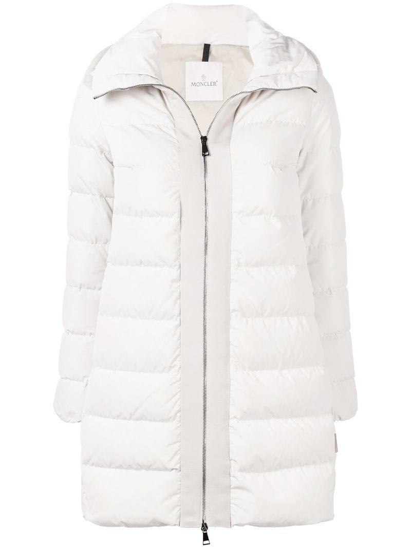 a87aa5dbc Moncler White Linotte Padded Coat