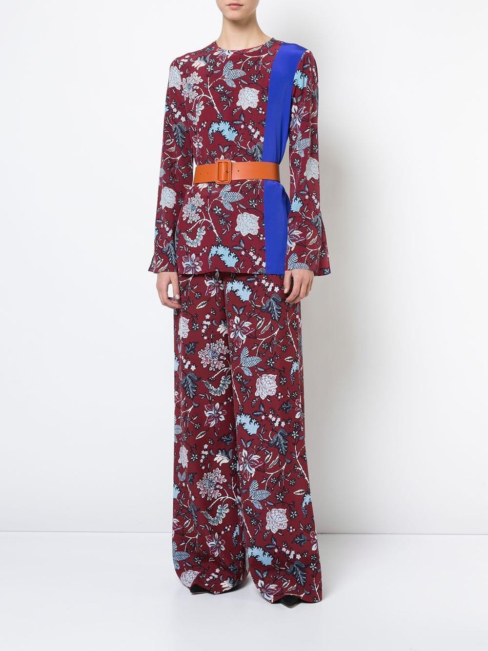 Blouse à fleurs Canton en Soie Diane von Furstenberg
